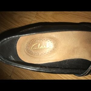 Clarks Shoes - CLARKS 7.5 M Brown Mary Janes Loafer Wedge Heels